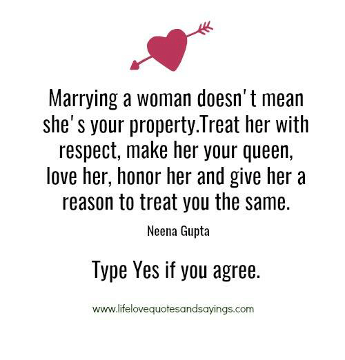 marry the girl who loves you