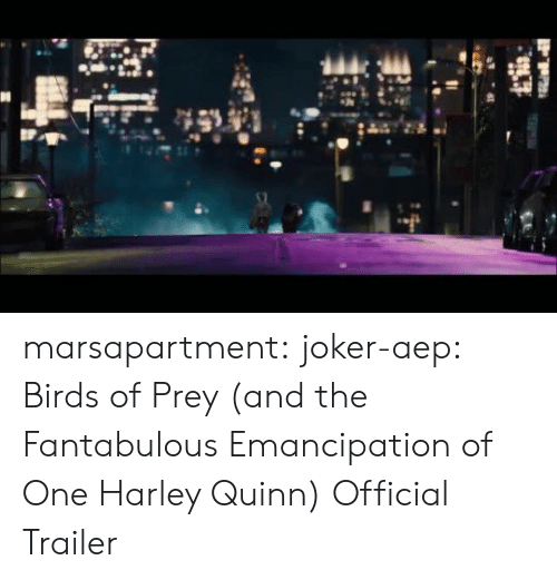 trailer: marsapartment:  joker-aep:  Birds of Prey (and the Fantabulous Emancipation of One Harley Quinn) Official Trailer