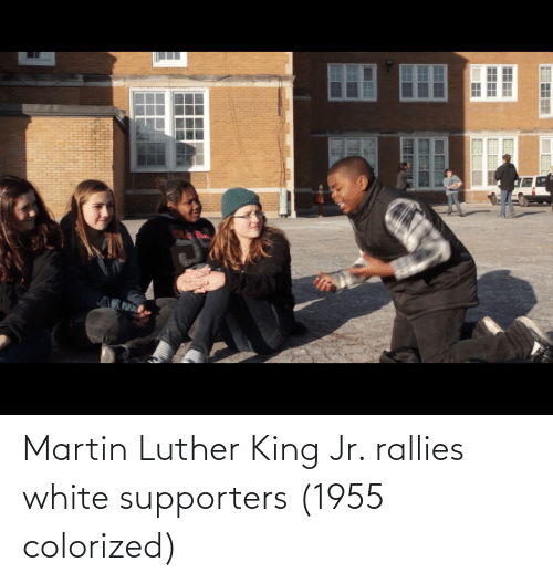 Martin Luther King: Martin Luther King Jr. rallies white supporters (1955 colorized)