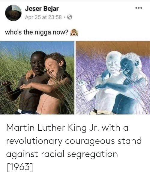 Martin Luther King: Martin Luther King Jr. with a revolutionary courageous stand against racial segregation [1963]