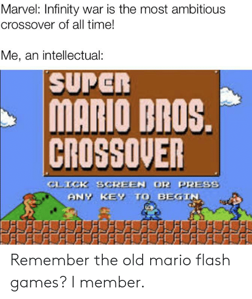 25 Best Memes About Super Mario Bros Crossover Super
