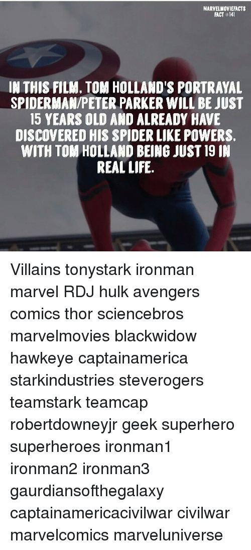 Marvel Moviefacts Fact 141 In This Film Tom Hollands