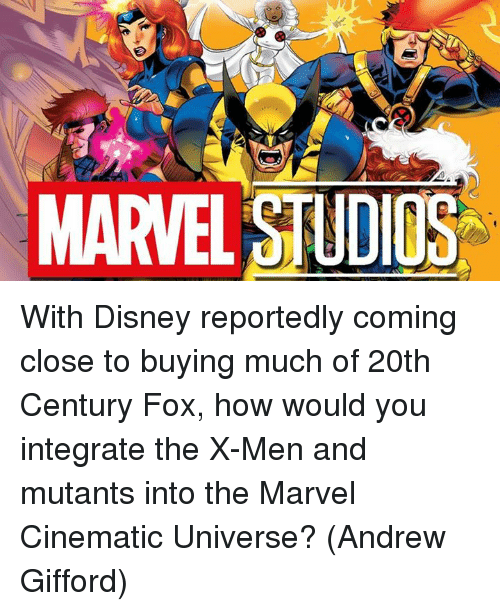 integrate: MARVEL STUDIOS With Disney reportedly coming close to buying much of 20th Century Fox, how would you integrate the X-Men and mutants into the Marvel Cinematic Universe?  (Andrew Gifford)