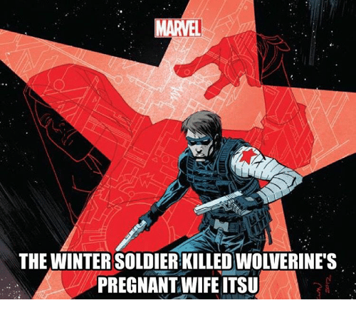 Pregnant Wife: MARVEL  THE WINTER SOLDIER KILLED WOLVERINE'S  PREGNANT WIFE ITSU