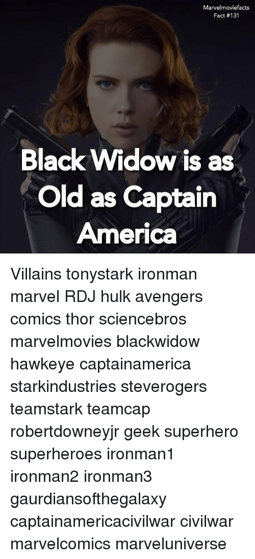 Marvelmoviefacts Fact 131 Black Widow Is As Old As Captain