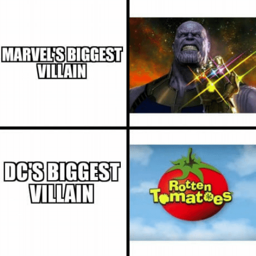 Villain, Dcis, and Marvels: MARVEL'S BIGGEST  VILLAIN  DCİS|BIGGEST  VILLAIN  Rotten  Tomat8eS