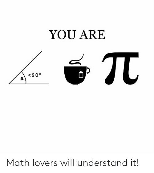 Lovers Will: Math lovers will understand it!