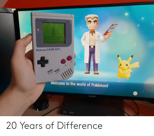stereo: MATRIX WITH STEREO  BATTERY  Nintendo GAME BOYM  Welcome to the world of Pokémon! 20 Years of Difference