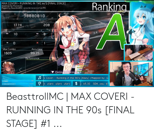 MAX COVERI-RUNNING IN THE 90'S FINAL STAGE Beatmap by Monstrata