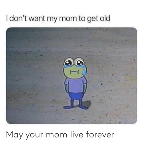 your mom: May your mom live forever