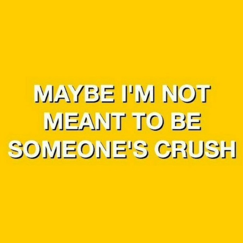 Crush, Maybe, and Meant-To-Be: MAYBE I'M NOT  MEANT TO BE  SOMEONE'S CRUSH