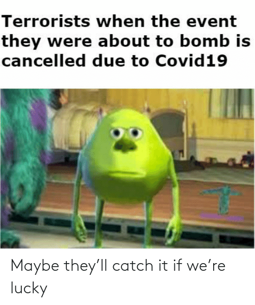 catch: Maybe they'll catch it if we're lucky