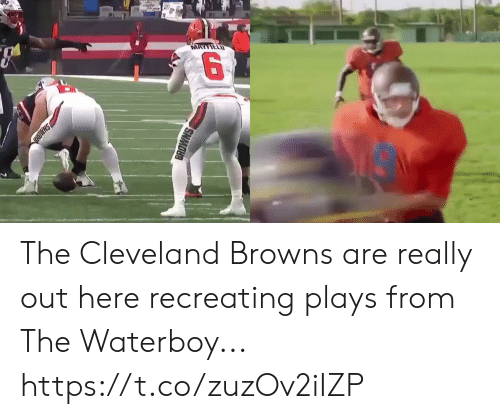 cleveland browns: MAYFIELD  SHMD  BROWNS The Cleveland Browns are really out here recreating plays from The Waterboy... https://t.co/zuzOv2iIZP