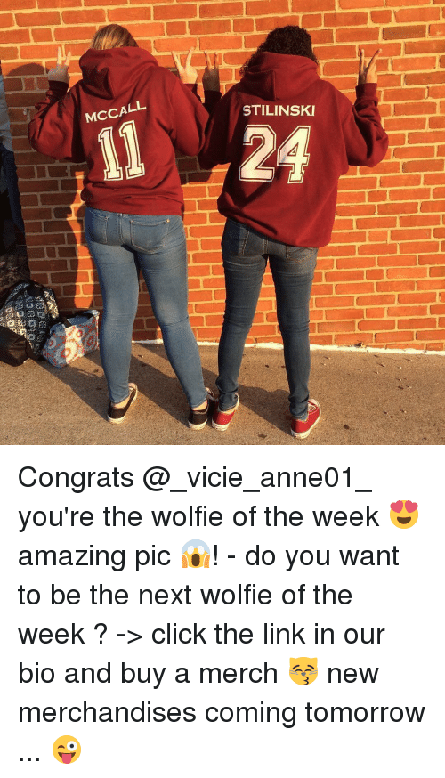 wolfies: McCALL  STILINSKI  il 24 Congrats @_vicie_anne01_ you're the wolfie of the week 😍 amazing pic 😱! - do you want to be the next wolfie of the week ? -> click the link in our bio and buy a merch 😽 new merchandises coming tomorrow ... 😜