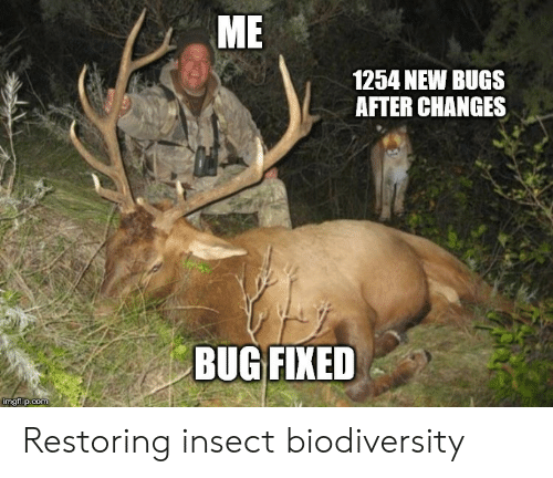 Com, Bug, and Insect: ME  1254 NEW BUGS  AFTER CHANGES  BUG FIXED  imgtlip.com Restoring insect biodiversity