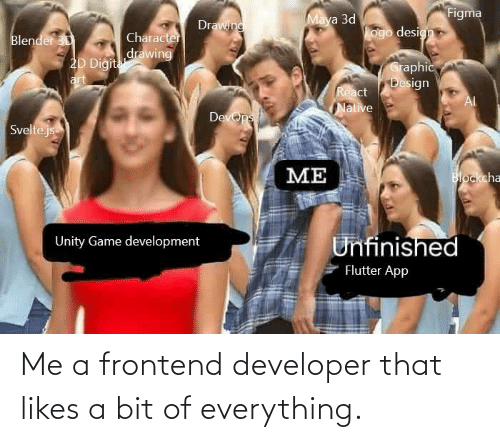 likes: Me a frontend developer that likes a bit of everything.