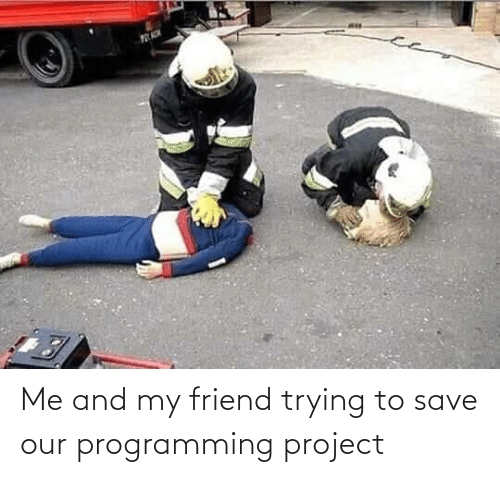 Save: Me and my friend trying to save our programming project