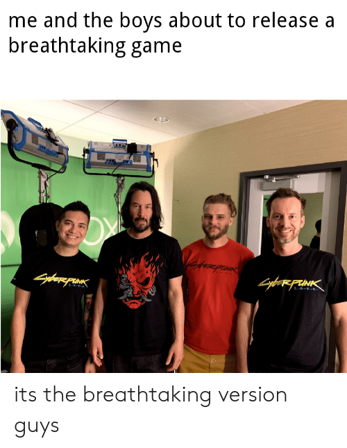 Game, Boys, and Punk: me and the boys about to release a  breathtaking game  atornpawins  RPU  PUNK  2 0-7-  GybesFIAK  KRINK  1 its the breathtaking version guys