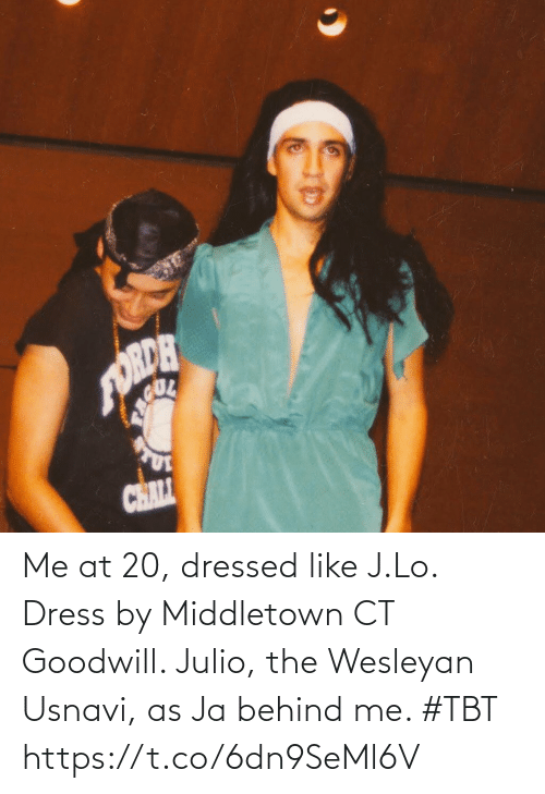Behind Me: Me at 20, dressed like J.Lo. Dress by Middletown CT Goodwill. Julio, the Wesleyan Usnavi, as Ja behind me. #TBT https://t.co/6dn9SeMl6V
