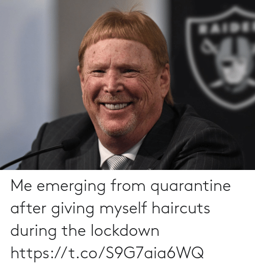 Football, Nfl, and Sports: Me emerging from quarantine after giving myself haircuts during the lockdown https://t.co/S9G7aia6WQ