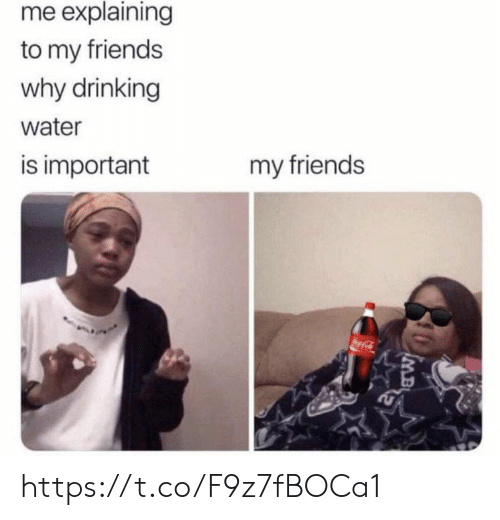 drinking water: me explaining  to my friends  why drinking  water  is important  my friends  oca-Cl  IMB https://t.co/F9z7fBOCa1