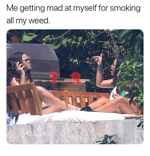 Memes, Shade, and Smoking: Me getting mad at myself for smoking  all my weed.  THE SHADE ROOH