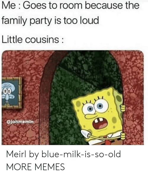 So Old: Me: Goes to room because the  family party is too loud  Little cousins  00  Jahmemin Meirl by blue-milk-is-so-old MORE MEMES