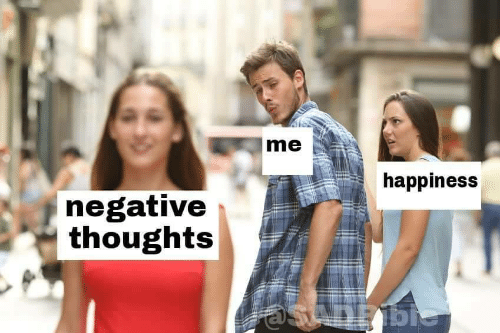 Thoughts, Negative, and Negative Thoughts: me  happines:s  negative  thoughts