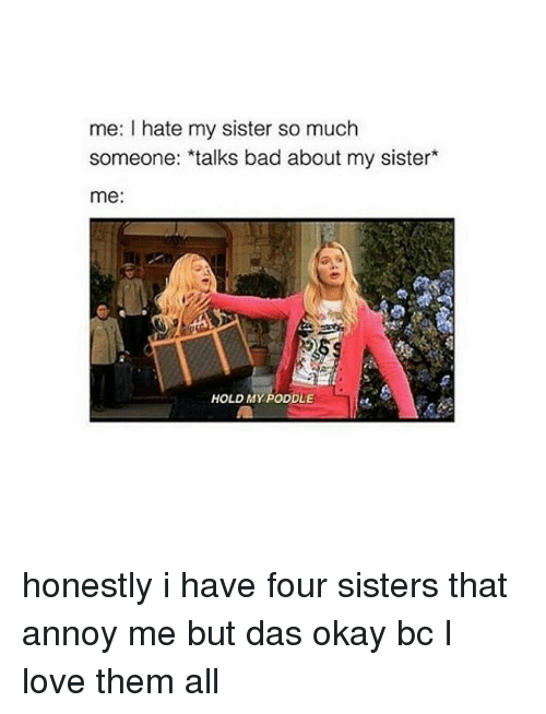 25 Best Memes About I Hate My Sister So Much I Hate My