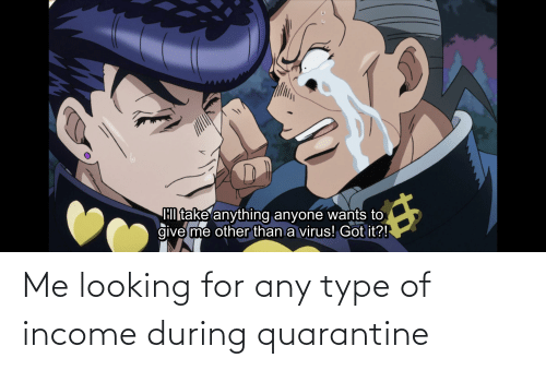 type: Me looking for any type of income during quarantine