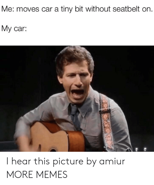 Dank, Memes, and Target: Me: moves car a tiny bit without seatbelt on  My car: I hear this picture by amiur MORE MEMES