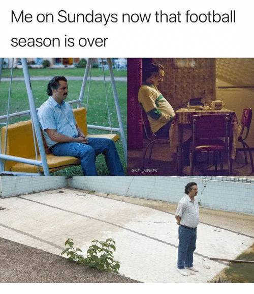 Football, Memes, and Nfl: Me on Sundays now that football  Season is over  ONFL MEMES