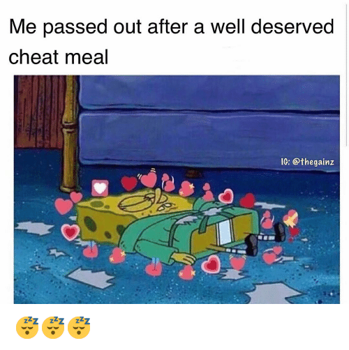 well deserved: Me passed out after a well deserved  cheat meal  IG: @thegainz 😴😴😴