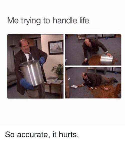 Memes, 🤖, and So-Accurate: Me trying to handle life So accurate, it hurts.