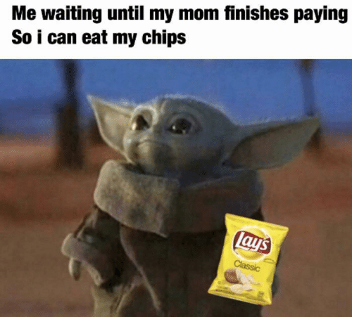 Lay's, Waiting..., and Mom: Me waiting until my mom finishes paying  So i can eat my chips  lays  Classic