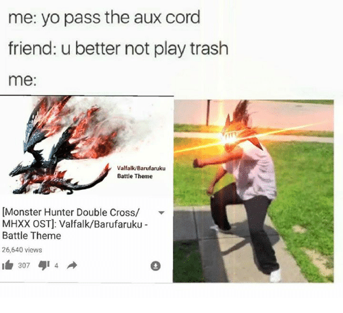Me Yo Pass The Aux Cord Friend U Better Not Play Trash Me