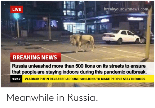 meanwhile: Meanwhile in Russia.