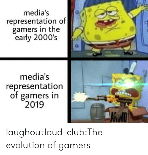 early 2000s: media's  representation of  gamers in the  early 2000's  media's  representation  of gamers in  2019  AWMO laughoutloud-club:The evolution of gamers