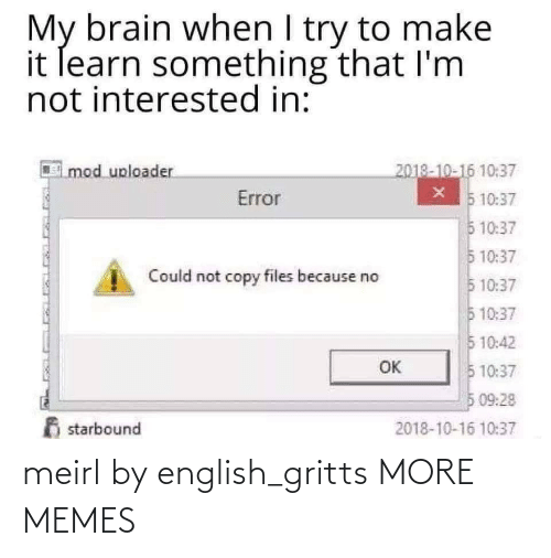 English: meirl by english_gritts MORE MEMES