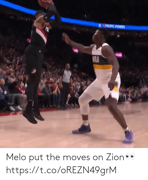 Put: Melo put the moves on Zion👀 https://t.co/oREZN49grM