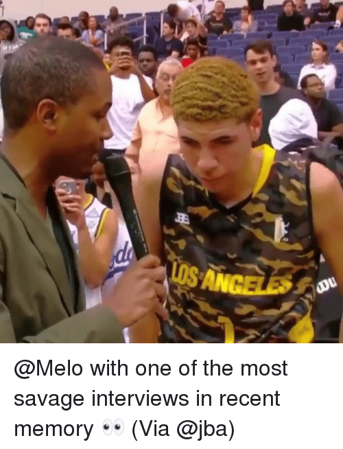 Basketball, Be Like, and Savage: @Melo with one of the most savage interviews in recent memory 👀 (Via @jba)