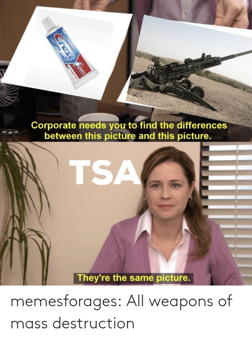 weapons: memesforages:  All weapons of mass destruction