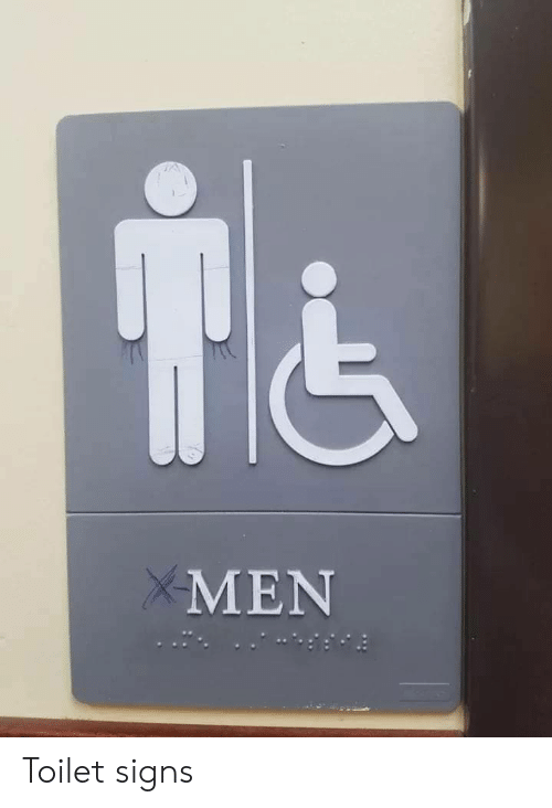 signs: MEN Toilet signs