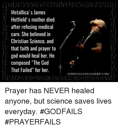 Metallicas James Hetfields Mother Died After Refusing Medical Care
