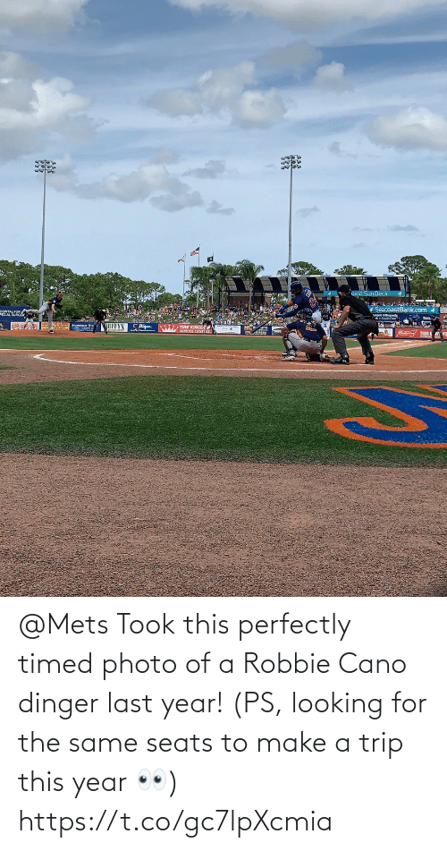 Robbie: @Mets Took this perfectly timed photo of a Robbie  Cano dinger last year! (PS, looking for the same seats to make a trip this year 👀) https://t.co/gc7lpXcmia