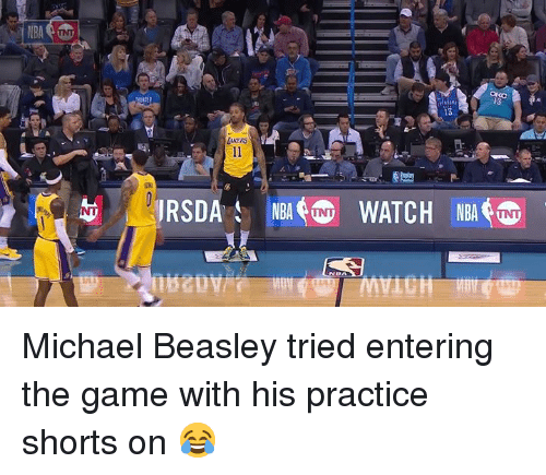 Beasley: Michael Beasley tried entering the game with his practice shorts on 😂