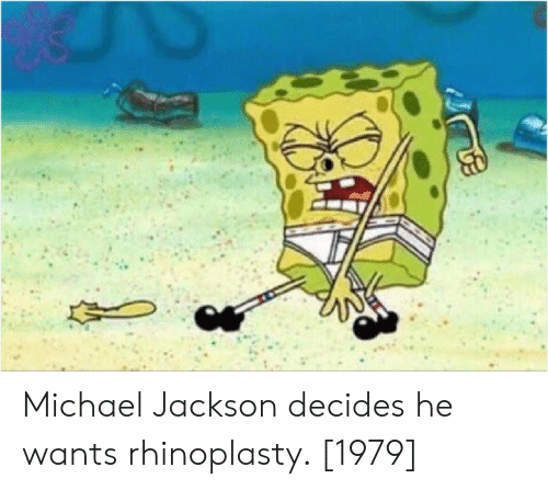 Michael Jackson: Michael Jackson decides he wants rhinoplasty. [1979]