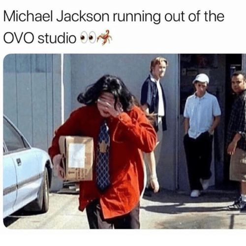 Michael Jackson Running: Michael Jackson running out of the  OVO studio