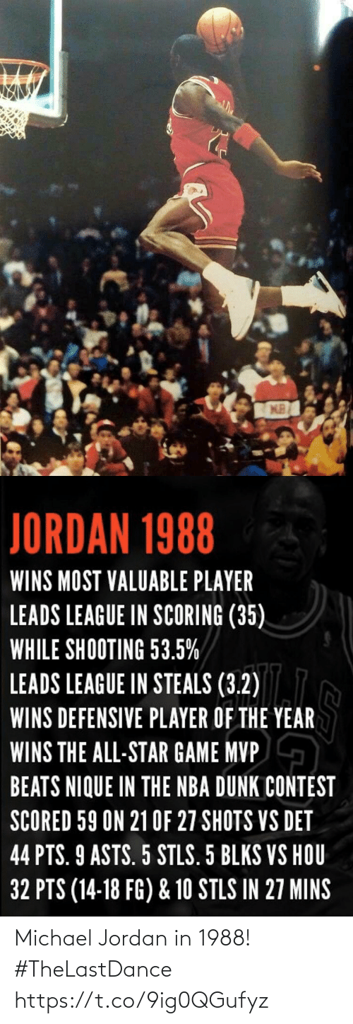 Jordan: Michael Jordan in 1988!  #TheLastDance https://t.co/9ig0QGufyz