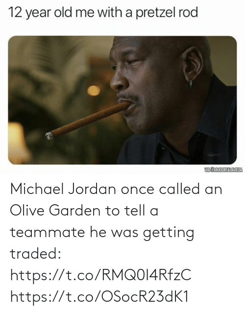 Jordan: Michael Jordan once called an Olive Garden to tell a teammate he was getting traded: https://t.co/RMQ0I4RfzC https://t.co/OSocR23dK1
